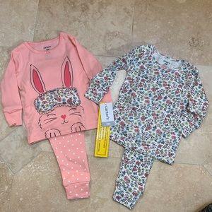 Carters Spring Easter Pajamas 9 mo NWT